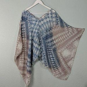 Johnny Was 4 Love And Liberty silk kimono shawl